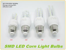 Wholesale Smd3528 E14 - 9W 7W 5W 3W LED Corn Lights High Quality E27 E14 U-Shape LED Corn Bulbs Light SMD3528 LED Corn Lamp for Indoor Lighting
