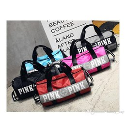 Wholesale Handbags Women Canvas Travel - Fashion Women Handbags Love VS Pink Large Capacity Travel Duffle Cosmetic Bags Striped Waterproof Beach Sport Outdoor Packs Shoulder Neceser