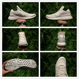 Wholesale Mens Pure White Shoes - Busenitz Pure Boost Triple White Running Shoes Mens Size EU40-45 Top Quality Real Boost Nmds Runner Sneakers Wholesale Drop Shipping