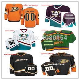 Wholesale Duck Cup - New 2017 Stanley Cup Playoffs Patch Custom Anaheim Ducks Jerseys Black Orange White Green Brown Blue Men's Women's Kids' Ice Hockey Jerseys