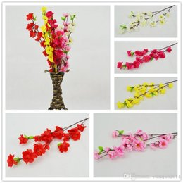 Wholesale cherry display - Wholesale 60CM 24inch Artificial Branches Of Peach Cherry Blossom Silk Flowers Home Wedding Decoration Flower