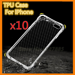 Wholesale Silicon Camera Covers - Anti Shock Knock TPU Soft Case Protect Camera skin Cover Crystal Clear Transparent Silicon Shell For iPhone 6 6s plus 7 5s 5 SE