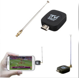 Wholesale Dvb Tv Mini Receiver - Mini Micro USB DVB-T Digital Mobile TV Tuner Receiver For Android Phone Tablet PC