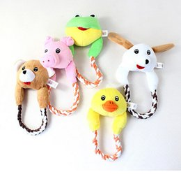 Wholesale Frog Cats - 10pcs Plush Toys Interactive Pet Puppy Chew Squeaker Sound Toy Duck Frog Bear Pig Dog for Dogs Cat Puppy