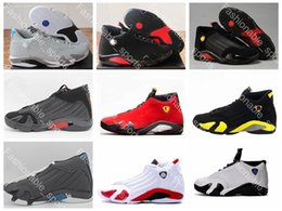 Wholesale Size 13 14 - 2017 air retro 14 mens basketball shoes Indiglo Oxidized Green Thunder Black Toe Cool Grey mens sneaker sport shoes size 8-13 Free shipping