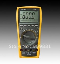 Wholesale Multimeter Fluke - VC99 3 6 7 Auto Range Digital Multimeter With Bag Better FLUKE 17B+ Large LCD Multimeters Easy To Operation Free Shipping