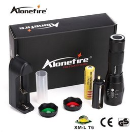 Wholesale Red Lens Hunting - Alonefire NEW Tactical G700-N CREE XML T6 LED Zoom led Flashlight Troch Red Green light lens signal light With Powerful magnet