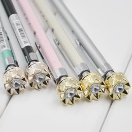 Wholesale Crown Drawing - Wholesale- cute princess diamond crystal crown metal 0.5mm automatic mechanical pencil for school & office sketch writing drawing supplies