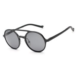 Солнечные очки из алюминиевого магния онлайн-Wholesale-Men Aluminum Magnesium Polarized Sunglasses Brand Designer Round Man Driving Glasses Outdoor Sports Vintage Shades Oculos