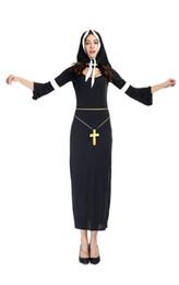 Wholesale Sexy Nun Uniform - Wholesale-2016 new Sexy Women Cosplay Costume Sexy nuns uniform exotic lingerie Nun Halloween costumes clothing dress suit PS1627