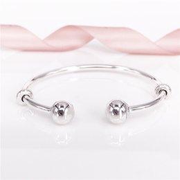 Wholesale Cube Day - Pandora Bangle Bracelet Christmas Gift Authentic Classic Style PANDORA Open Bangle Bracelet 596477