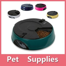 Wholesale Automatic Feeder For Pets - High Quality 6 Meal day Automatic Pet Feeder For Cat Or Dog Holiday Auto Dispenser Bowl Lcd