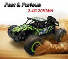 Wholesale Cars Speed - RC Car 2.4G 20KM H High Speed Racing Car Climbing Remote Control Carro RC Electric Car Off Road Truck 1:18 RC Buggies drift