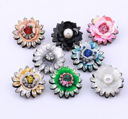 Wholesale China Bouquet - 2018 Vintage Silver sequins Flower Pin Brooch Wedding Costume Broach Flower Bridal Bouquet Pin 3