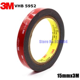 Wholesale Vhb Foam Tape - Wholesale-3M VHB 5952 Black Heavy Duty Mounting Tape Double Sided Adhesive Acrylic Foam Tape 15mmx3Mx1.1mm