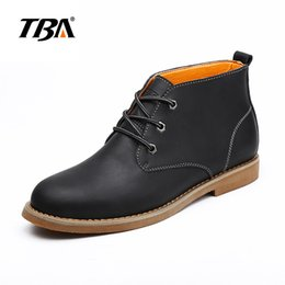 Wholesale Ventilated Men Casual Shoes - Men Leather Casual shoes flat rubber sole ventilate second layer leather tough lace waterproof cost prices sale