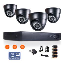 "Wholesale D1 Cctv Camera - 1 4"" CMOS 8CH Full D1 H.264 Surveillance HDMI DVR 700TVL 24IR-Led 3.6mm Len Indoor network Security CCTV Camera System day&night monitoring"
