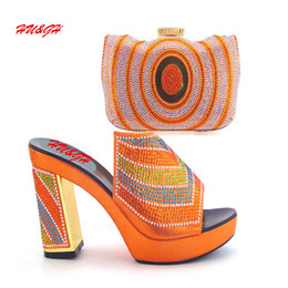 Wholesale Handbags Matching Shoes - Well worth buying new arrival Africa high heel ladies shoes matching beautiful handbag 38-42