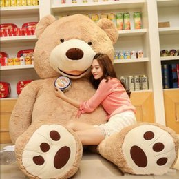 Wholesale American Giant - 1PC 100cm The American Giant Bear Hull , Teddy Bear Skin High Quality Low Price Popular Birthday Gifts For Girls ,Kid's Toy