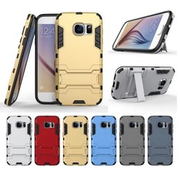 Wholesale S4 Iron Man - New Arrival Iron Man Armor Phone Cases 2 in 1 Protection Shell Cover For Samsung S4 S5 S6 S7 Edge Note4 Note5 Shockprooof
