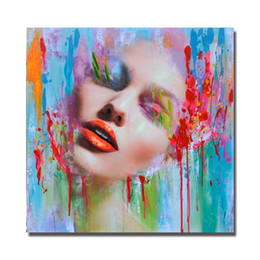 Wholesale Modern Woman Figure Art - New Design Women Face Oil Painting Home Decor Wall Pictures Hand Painted Modern Pictures on Canvas Portrait Art No Framed