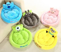 Wholesale blue couches - New Arrival Cute Cartoon Puppy Bed Dog Bed Cat Mat Sofa Dog House Couch Cushion Dog Kennel Warm Free Shipping