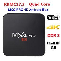 Wholesale Os Player - MXQ Pro Amlogic RK3229 Chipset KD17.3 Android6.0 OS Quad Core 1G 8G 4K TV Box Streaming Media Players 50pcs