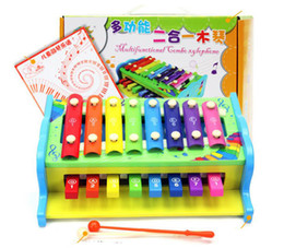 Wholesale Wooden Xylophone Baby - multifunctional combo xylophone Fashion wooden toy wooden xylophone musical toy baby toddle kids wisdom development music instrument piano