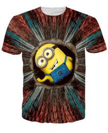 Wholesale Browning T Shirt Small - 2016 New Men's 3D Cartoon Print T-Shirt Half Sleeve Men's Round Collar 3D T-Shirt Small Yellow Man Printing Men's t-Shirt