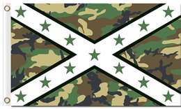 Wholesale flags banner green - Professional Flag Manufacturer 90x150cm(36x60inch) 100D Polyester 3x5ft Banner With Metal Grommets USA Green Camouflage Cross Flags