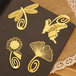 2019 calendario del libro de recuerdos Envío gratis 10 unids / lote Mini de Dibujos Animados Creativo Bookmark Novedad Papelería Color Oro Marcadores de Metal Libro Amante Material de Regalo Escolar
