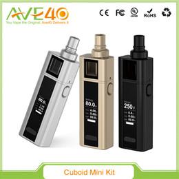 Wholesale Electronic Cigarette Kit 5ml - 100%Authentic Joyetech Cuboid Mini 80w TC kit with E-cigarette BF Clapton ss316 Notch Coil 5ml Electronic Cigarettes Vape Ecig Kit