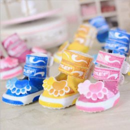 Wholesale Small Dog Sandals - New Cute Dog Paw Prints Pet Dog Mesh Sandals Summer Shoes Breathable Small Dogs Anti-slip Boots Pet Shoes Footwear