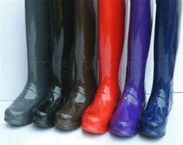 Wholesale Casual Shoes For Girls - 2017 Popular brand Rain Boots Girls Ladies Rubber Shoes For Casual Walking Hunting Outdoor High and medium Adult Waterproof rainboots