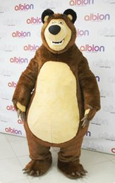 Wholesale Big Bear Costume - High Quality Big Bear Ursa Grizzly Mascot Character Free Shipping costume cartoon character