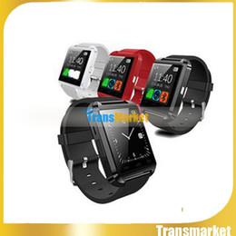 Wholesale Mobile Women Watch - Black Bluetooth Android Smart Mobile Phone U8 Wrist Watch Watches For IOS iPhone Samsung LG Watch Mens Women u8 u80 dz09 gt08 gv18
