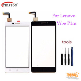 Wholesale lenovo digitizer glass - Wholesale- High quality Touchscreen Touch Panel Sesnor For Lenovo Vibe P1m P1m a40 P1ma40 P1mc50 Touch Screen Digitizer Front Glass Lens
