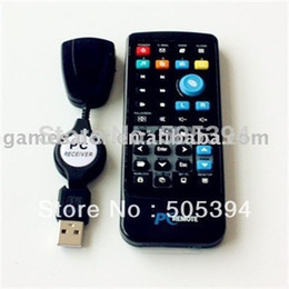 Wholesale Pc Control Center - IR Wireless Controller PC Computer Remote Control USB Media Center fly Mouse & USB Receiver For Windows 7 XP VISTA Hot