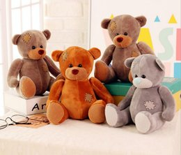 Wholesale Huge Light - 2016 Hot Selling Teddy Bear 25cm Cotton Light Brown 5 Colors Cute Plush Teddy Bear Huge Soft TOY