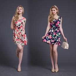 Wholesale Cheap Working Suits - 2016 Vest Skirt Fresh Shivering Chiffon Suit-dress Maxi Women Beach Dress Fashions Long Sleeves Summer Work Denim Casual Cheap Dresses