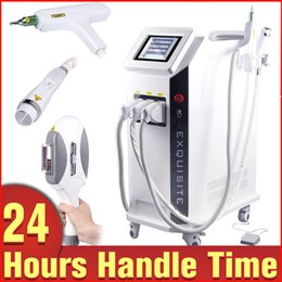 Wholesale E Light Hair Removal Machine - Salon Use 3in1 E Light IPL Hair Removal Age Spots Tattoo Removal RF Skin Rejuvenation Beauty Machine