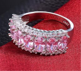 Wholesale Candy Wedding Rings - Free shipping 925 silver rings plated with 18K gold candy multicolor crystal ring women wedding jewelry rings hot sale