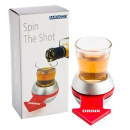Wholesale Wholesale Drinking Games - 2017 Spin The Shot Novelty Shot Drinking Game with Spinning Wheel Funny Party Item DHL Free