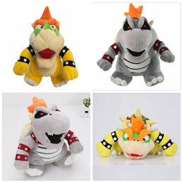 Wholesale Dry Bones - Plush Toys Christmas Children Super Mario Land Bone Kubah Dragon Bolster Plush Top Quality Stuffed Dolls Dry Bones Bowser Koopa YYA666