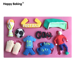 Wholesale Silicone Baking Molds Halloween - 1PCS football series fondant 3D molds, silicone mold ,soap, candle moulds, sugar craft tools, chocolate moulds, bake ware