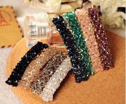Wholesale Crystal Hair Accessories For Girls - 2017 Fashion Hairpins for Hair Women Girls Bling Headwear Crystal Rhinestone Barrette Hairpin Hair Clip Accessories HJIA549