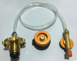 Wholesale Stove Outdoors - Outdoor Gas Stove Camping Stove Propane Refill Adapter Burner LPG Flat Cylinder tank Coupler Bottle Adapter Save SC025