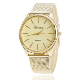 Wholesale Ladies Students Watch - Geneva,Hot style Gold mesh belt in Geneva ladies watch The new student quartz watch Spot wholesale