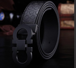 Wholesale Girls Brown Leather Belts - New Fashion Mens Business Belts Luxury Ceinture Automatic Buckle Genuine Leather Belts For Men Waist Belt Free Shipping