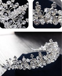 Wholesale Wedding Beads For Hair - High Quality Shiny New Bead Wedding Crowns Rhinestone Headpieces For Bridal Fashion Hair Jewelry In Stock